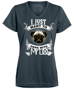 Ladies Cool Shirt I just want to Hang with my Dog