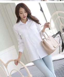 Cool Shirts - Spring Blouse Shirt Cardigans White Office Clothing Female Casual