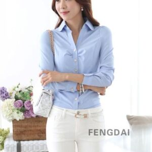 Spring Blouse Shirt Cardigans Office Clothing Female Casual