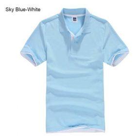 sky blue white