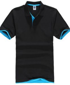 Black and blue polo