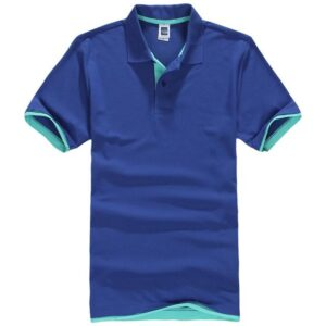 Blue polo shirt inner sky blue shade
