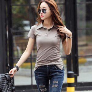 Coffee Color polo shirt