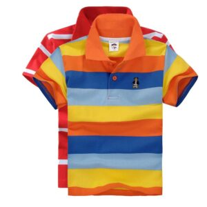 boys t shirt summer striped cotton short sleeve