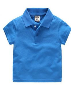 Kids blue polo