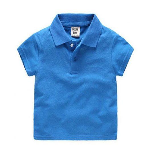 Kids blue polo