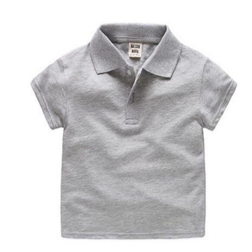 Grey pattern polo