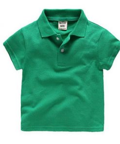Green polo for children