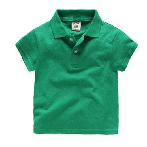 Green polo for children
