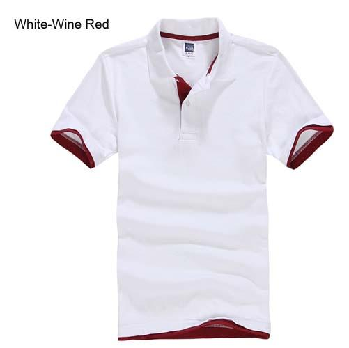 White and maroon polo