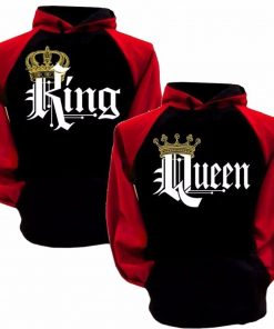 Crewneck Black and Red King Hoodie Sweatshirt