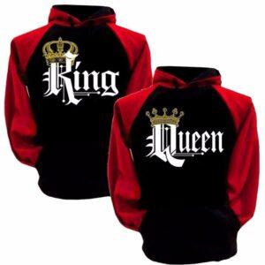 Crewneck Black and Red King Hoodie Sweatshirt