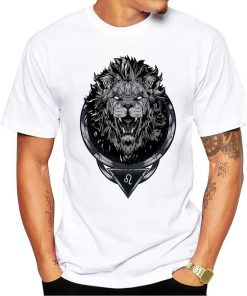 Lion King Design T-Shirt Short Sleeve