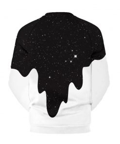 White and Black White paint falling from Space Hoodie/Sweatshirt
