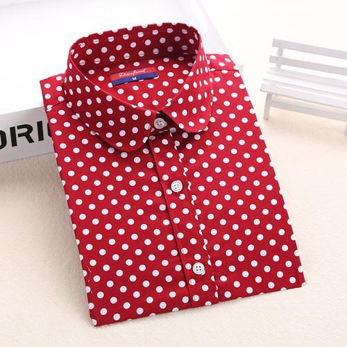 Red Women's Long-Sleeve Shirt