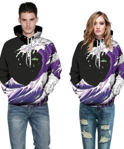 Digital Printed Pullover Unisex Hoodie Sweatshirt