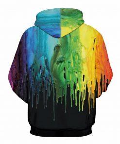 Black Paint Design Unisex Hoodie