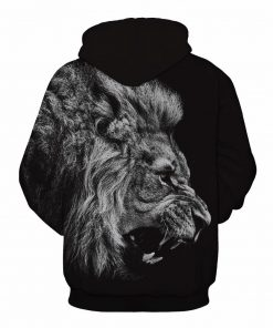 Black & White Roaring Lion Design