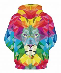 Colorful Lion Pullover Unisex Hoodie Sweatshirt