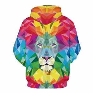 Colorful Lion Pullover Unisex Hoodie Sweatshirt