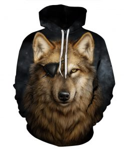 Pirate Wolf Pullover Unisex Hoodie / Sweatshirt