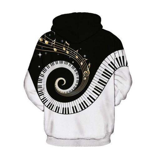 Melody Design Black & White Unisex Hoodie/Sweatshirt