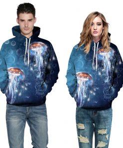 Jellyfish Pullover Hoodie Hooded Sweatshirt