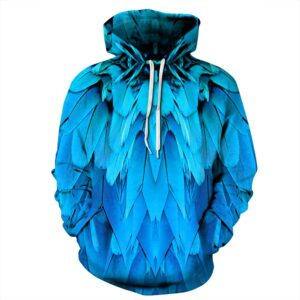 Blue Feather Unisex Hoodie Sweatshirt