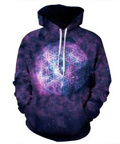 Purple Graphics Glowing Ball Unisex Hoodie/Sweatshirt