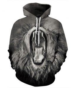 CoolShirts Roaring Lion Pullover Unisex Hoodie / Sweatshirt