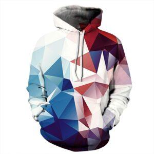 Diamond Shape Pullover Unisex Hoodie / Sweatshirt