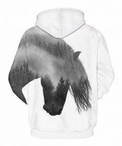 Wild Horse Design Pullover Unisex Hoodie Sweatshirt