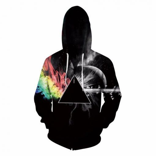 Triangle Zip-Up Unisex Hoodie/Sweatshirt