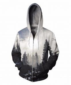 Forest Zip Pullover Unisex Hoodie Sweatshirt