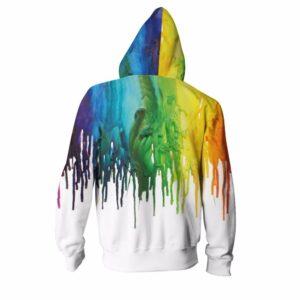 Paint Design Pullover Hoodie Sweatshirt