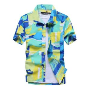 Cool Hawaiian Shirts Floral Block Print