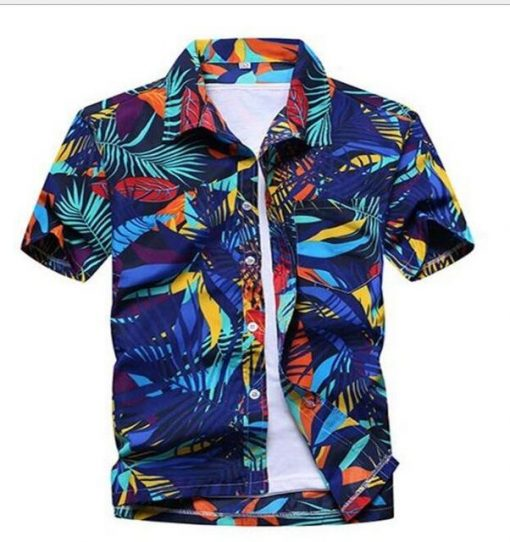 Hawaiian Floral Print Short Sleeve Shirts