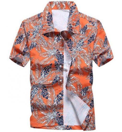 Men Floral Printed Short Sleeve Shirt