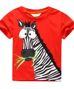 Cool Kids Boys Tee Shirt Zebra Pattern