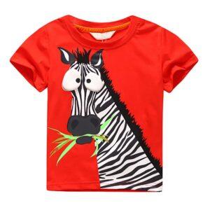 Cool Kids Boys Tee Shirt Zebra Pattern