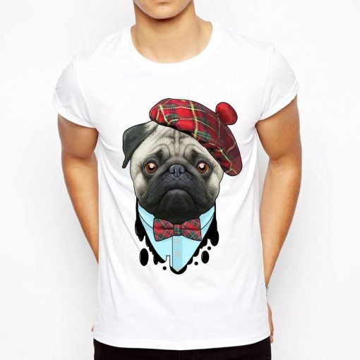 Pug Round Neck Cotton T-Shirt