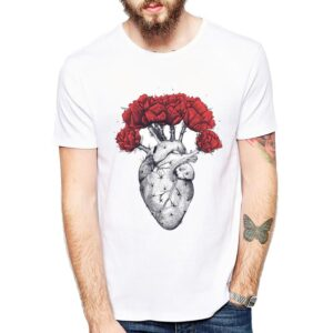 Heart with Peonies T-Shirt Design