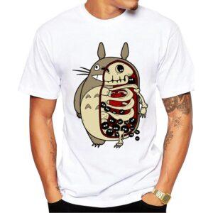 Forest Spirit White Short Sleeve Stylish T-Shirt for Men