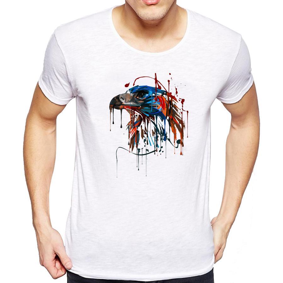 Cool Shirts Eagle Painting Design T-Shirt Short Sleeve